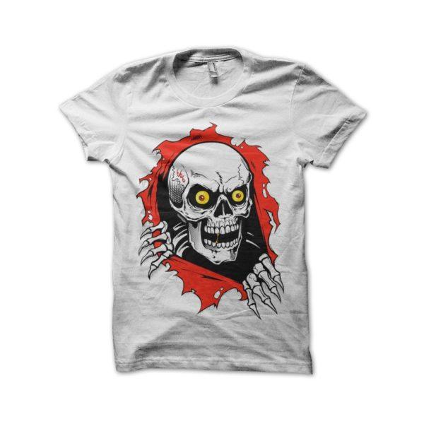 666 skull white t-shirt