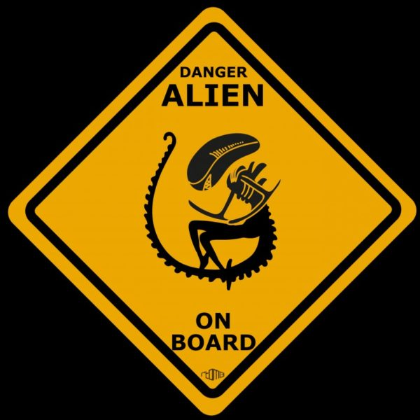 Alien t-shirt - Danger Alien on board
