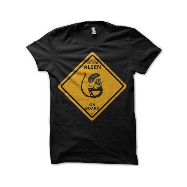 Alien t-shirt - Danger Alien on board
