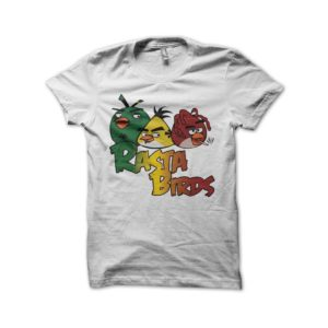 Angry Birds parody shirt Rasta White Birds