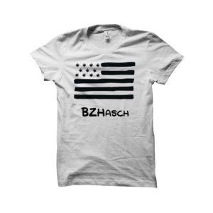 BZHASCH WHITE TEE SHIRT