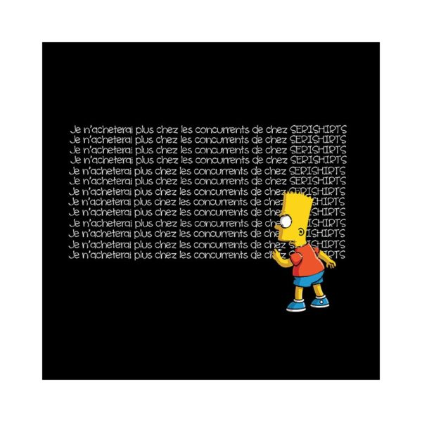 Bart simpson t-shirt I no longer will buy from competitors in serishirts black color