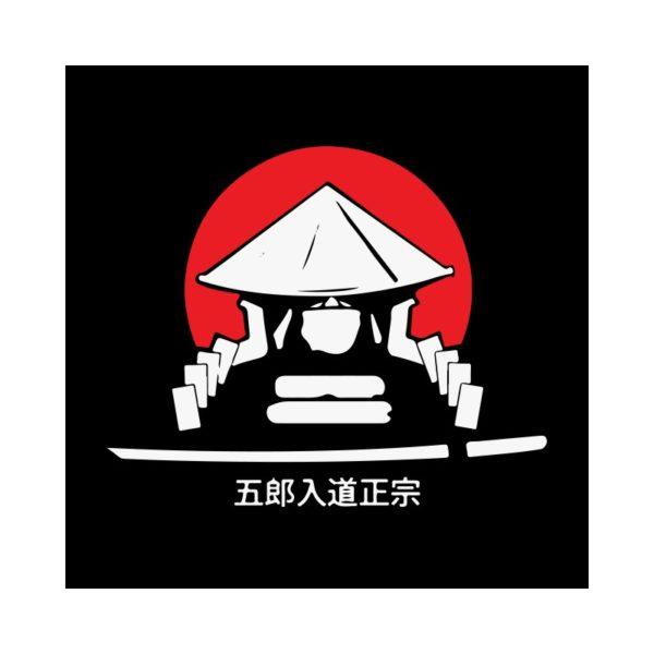Black shirt Samurai Katana