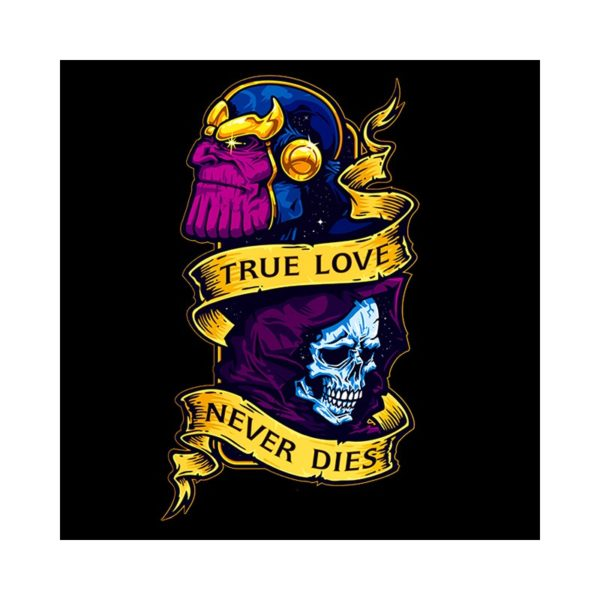 Black thanos death t-shirt