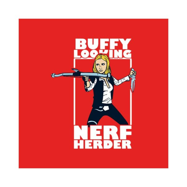 Buffy shirt against the red vampires