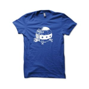 Capsule Corp shirt artwork vintage white - royal blue