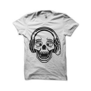 DJ Skull Tee Shirt White