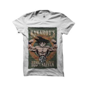 Dragon ball kakarots gym t-shirt super sayan