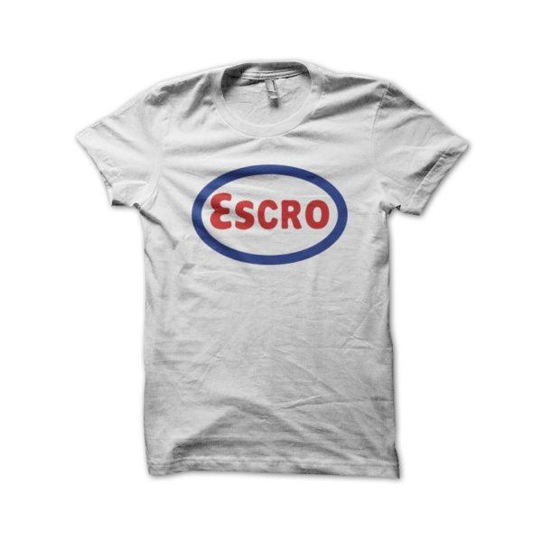 Escro white t-shirt parody esso
