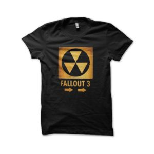 Fallout 3 t-shirt nuclear black artwork