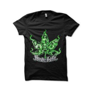 Ganja high light marijuana t-shirt
