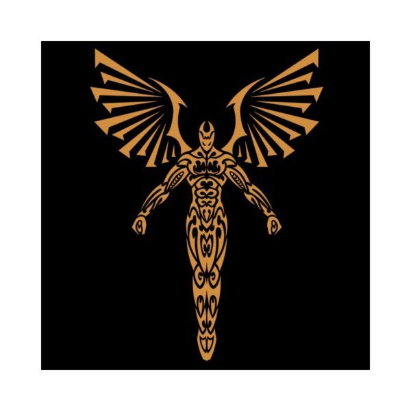 Golden angel t-shirt black