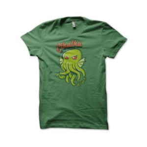 Green t-shirt Cthulhu