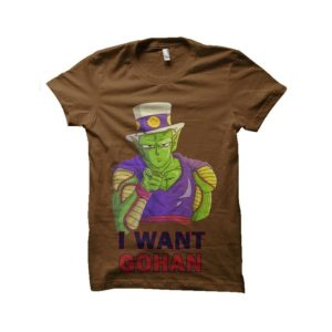 I want gohan t-shirt piccolo satan dragon ball