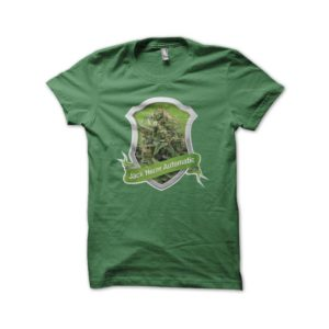 Jack Herer Cannabis automatic green shirt
