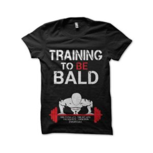 Krilin dragon ball tee shirt training to be bald