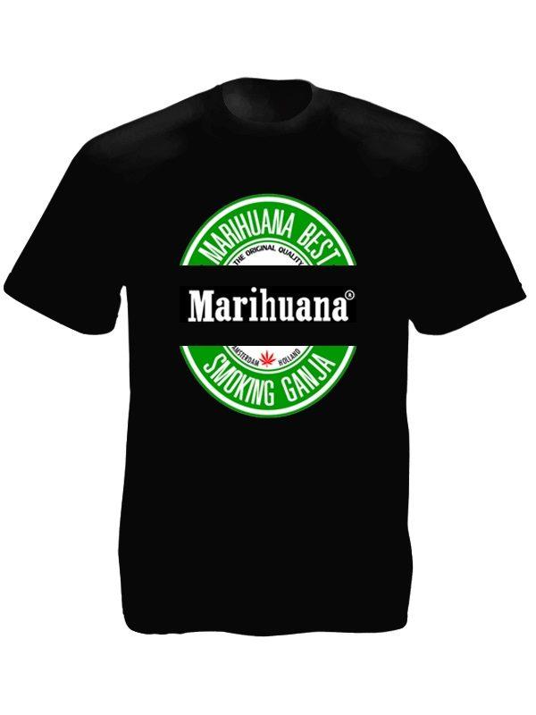 Marihuana Beer Tee-Shirt Black
