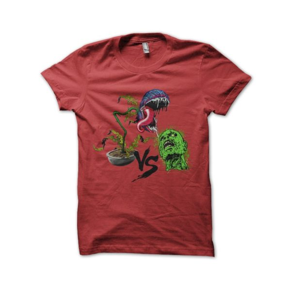 Plant vs zombie red t-shirt