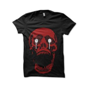 Red skull horror show tee shirt