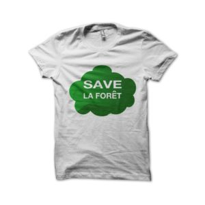 Save the white forest t-shirt