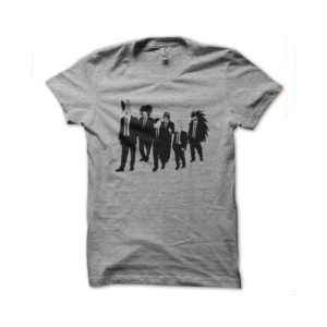Shirt DBZ characters wicked parody reservoir dogs gray