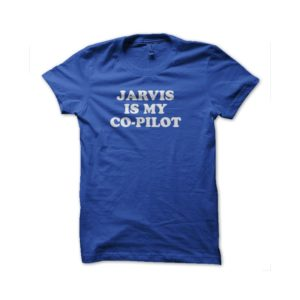 Shirt Jarvis is my co-pilot royal blue