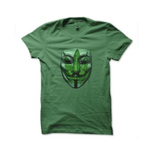 Shirt anonymous mask green weed