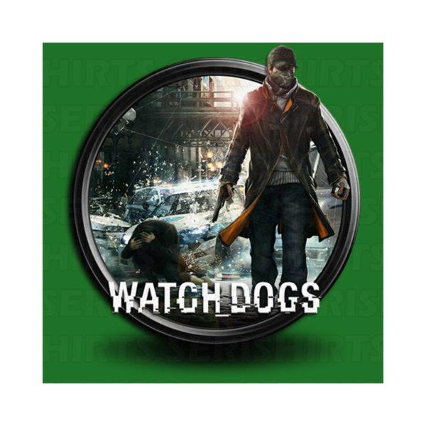 Shirt green video game Watchdogs