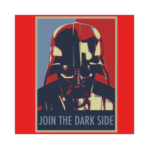 Shirt join the dark side red
