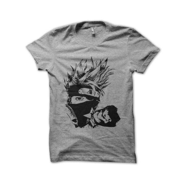 Shirt kakashi naruto artistic gray