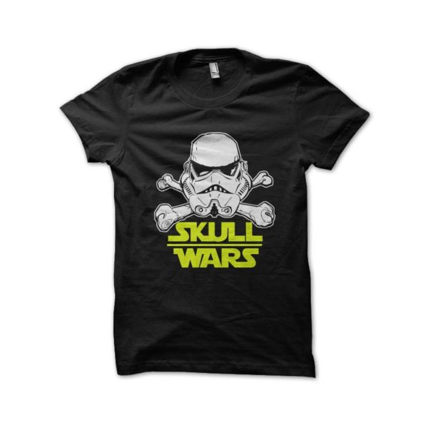 Shirt skull star wars parody black wars