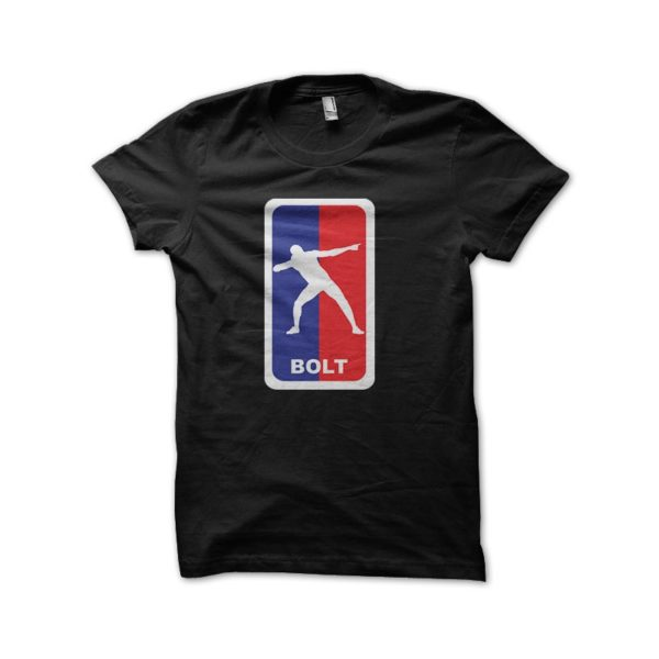 Shirt usain bolt parody nba black