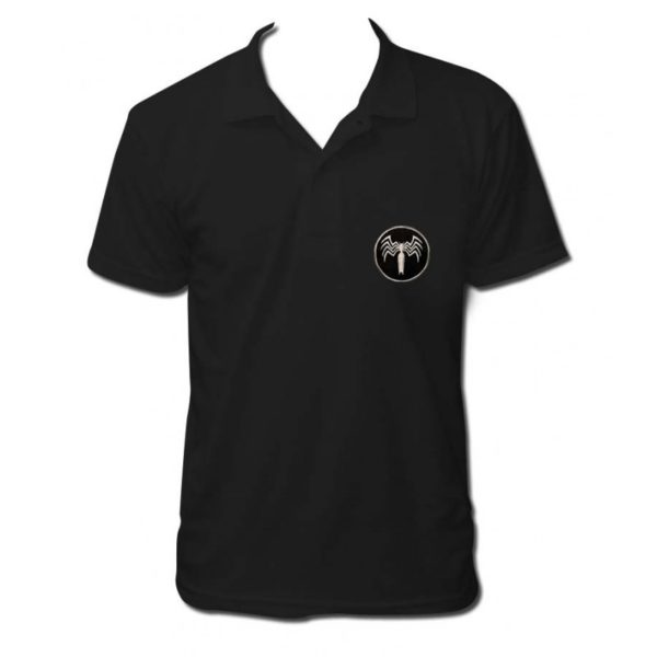 Spiderman venom embroidered polo