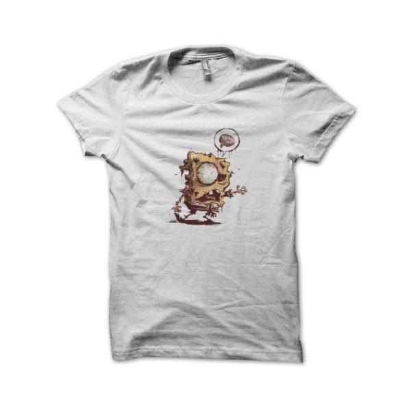 Sponge bob t-shirt white zombie