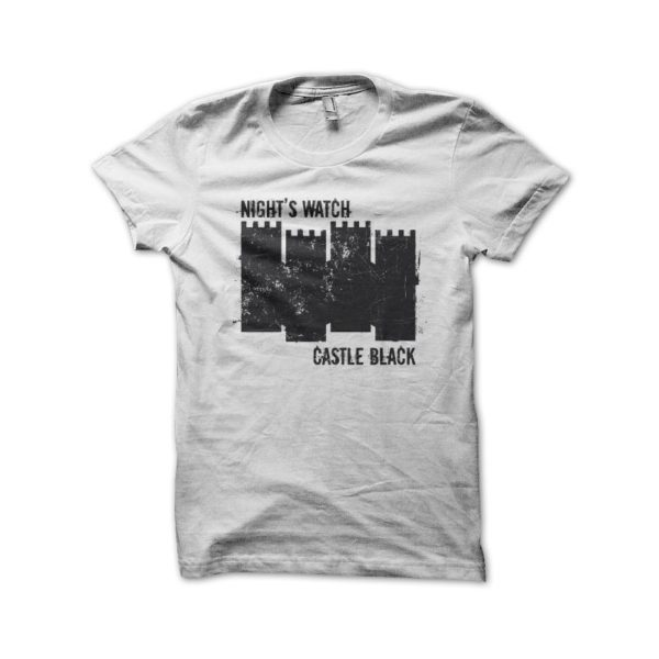T Shirt Black White Castle