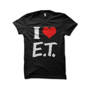 T-Shirt I LOVE AND extraterrestrial black
