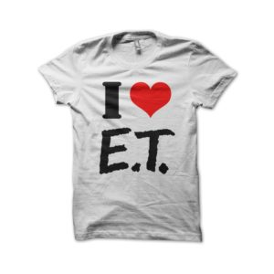 T-Shirt I LOVE AND extraterrestrial white