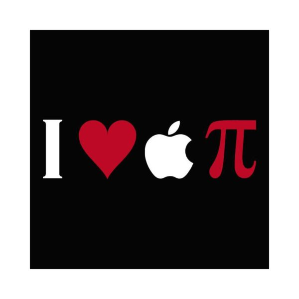 T-Shirt I love apple Pi original black