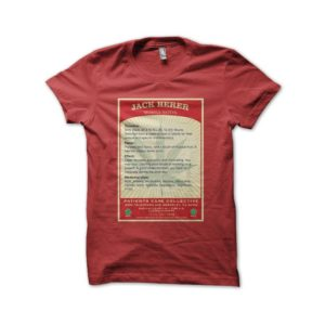 T-Shirt Jack Herer Cannabis sativa mostly red