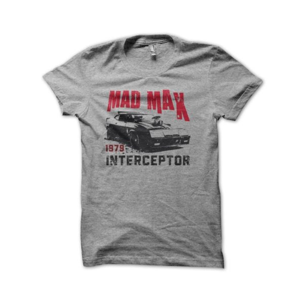 T Shirt Mad Max Interceptor 1979 vintage gray