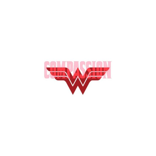 T-Shirt Wonder Woman Justice League Compassion white BASIS