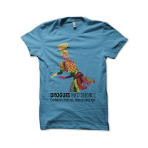 T-shirt Annie Cordy Drogues Info Service turquoise