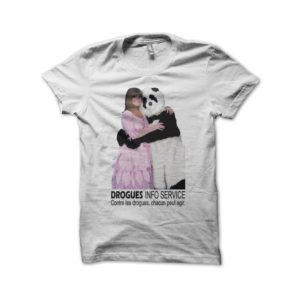 T-shirt Chantal Goya Drogues Info Service white
