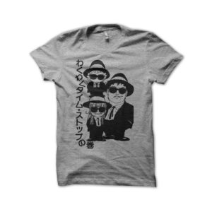 T-shirt Dr. Slump Dr. Suranpu parody blues brothers gray
