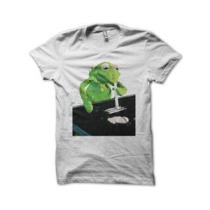 T-shirt Kermit plays cocaine white