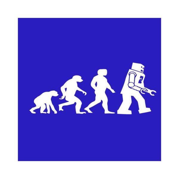 T-shirt Lego Evolution white-blue