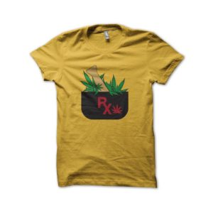 T-shirt Pharma Weed yellow