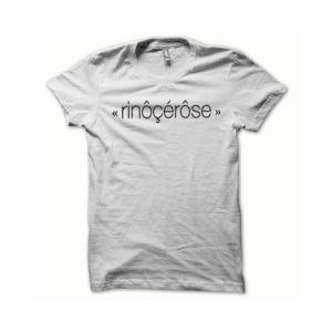 T-shirt Rinoçepink black-white