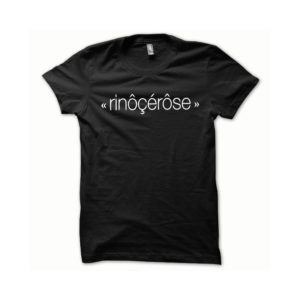 T-shirt Rinoçepink white-black