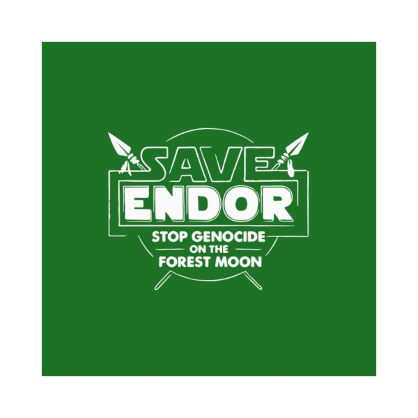 T-shirt Save Endor the forest moon green